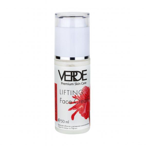 Натуральный крем для лица Антиейдж и лифтинг Verde